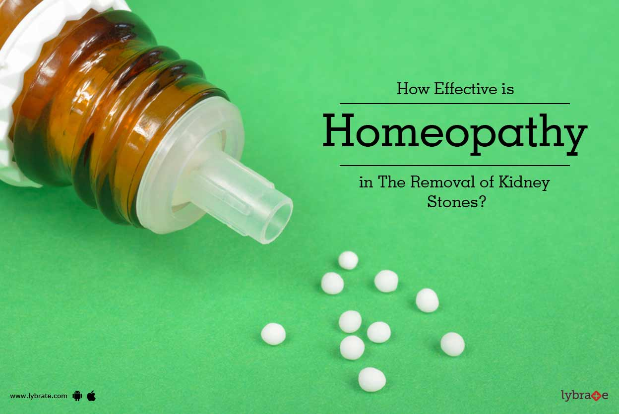 How Effective Is Homeopathy In The Removal Of Kidney Stones By Dr Gouri Sankar Maiti Lybrate