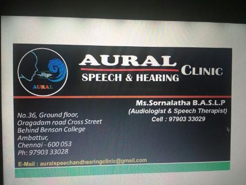 Aural Speech & Hearning Clinic, Chennai