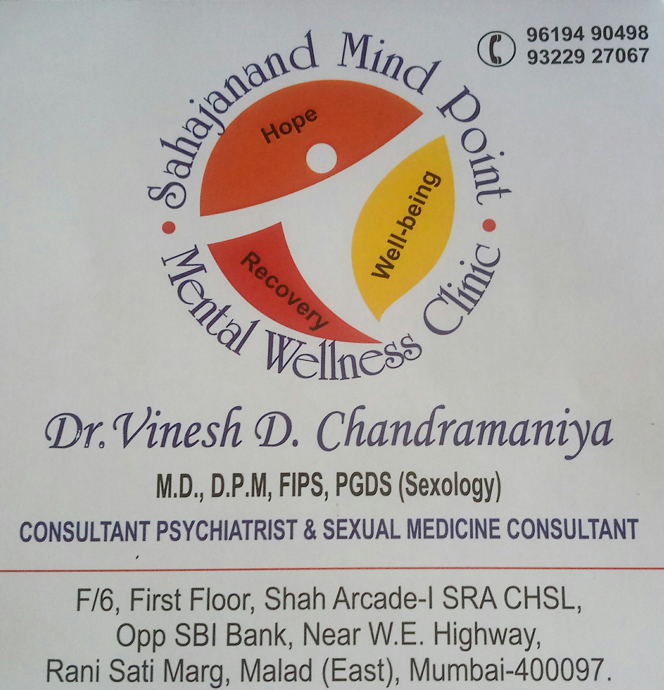 Sahajanand Mind Point Mental Welleness Clinic, Mumbai
