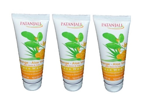 Patanjali Orange Aloevera Face Wash Pack of 3
