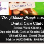 Dr. Abhinav Singh - Best Dentist in Lucknow, Lucknow