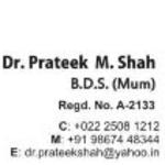 Dr. Prateek M. Shah - Dentist, Mumbai