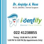 Dr. Amisha Vasa - Dentist, Navi Mumbai