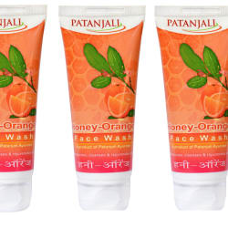 Patanjali Honey Orange Face Wash Pack of 3