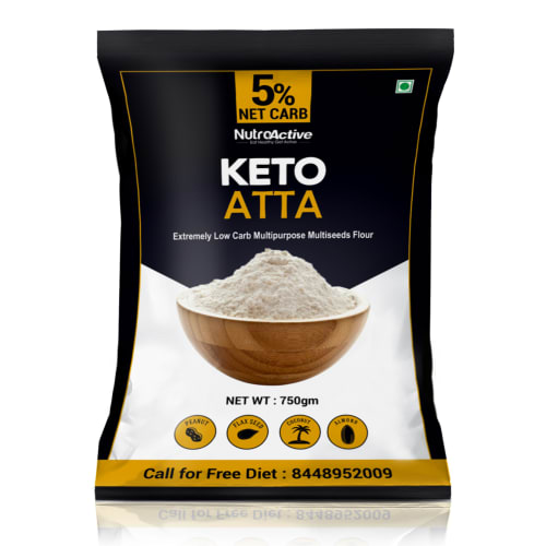 NutroActive Keto Atta (Extremely Low Carb Flour) -  750 Gram - 0