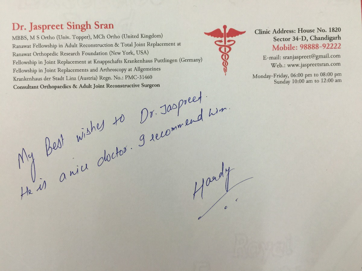 Dr  Jaspreet Singh Sran - Book Appointment, Consult Online, View
