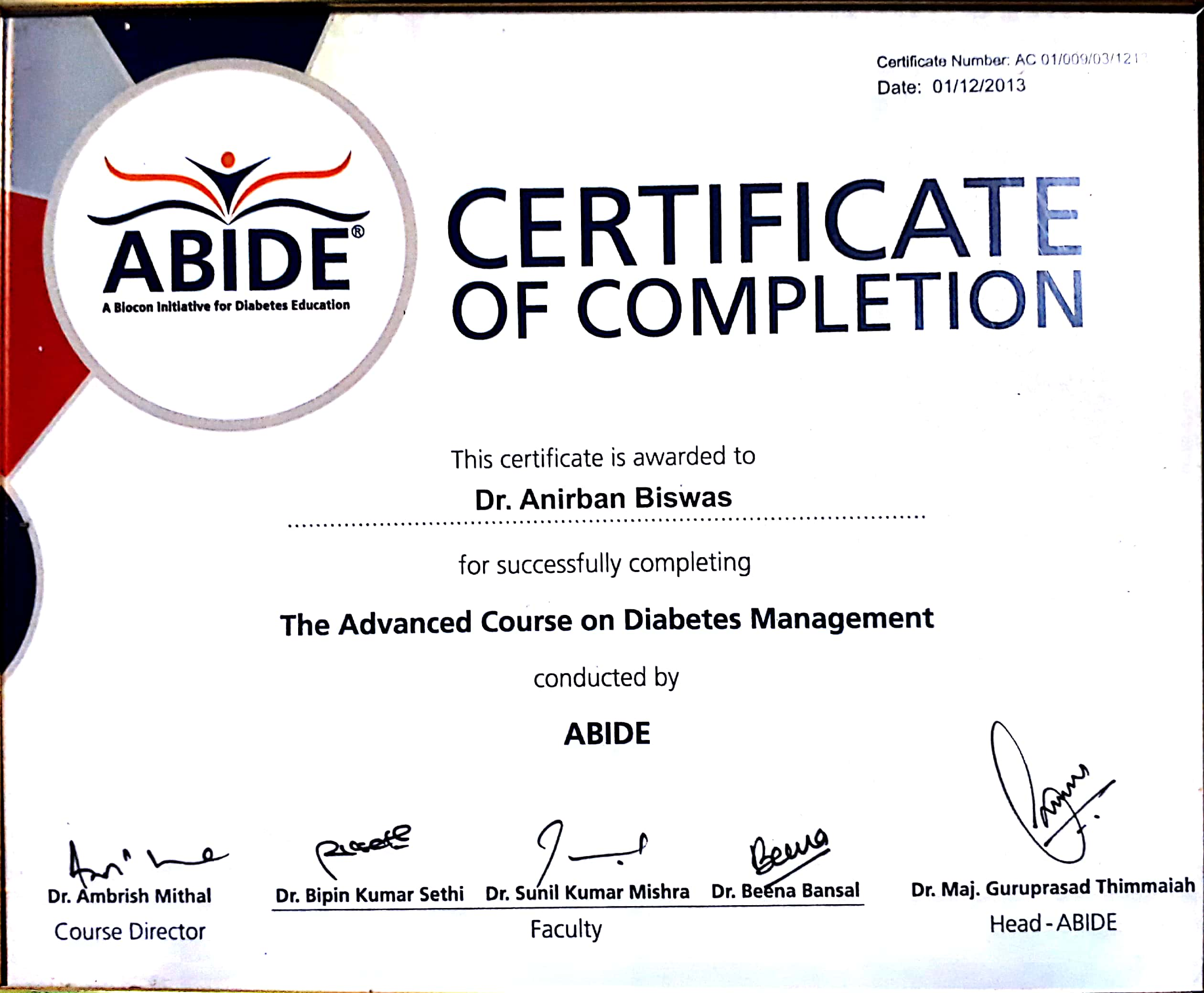 Dr  Anirban Biswas - Book Appointment, Consult Online, View