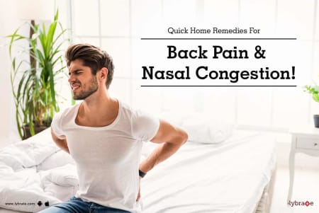 Quick Home Remedies For Back Pain Nasal Congestion By
