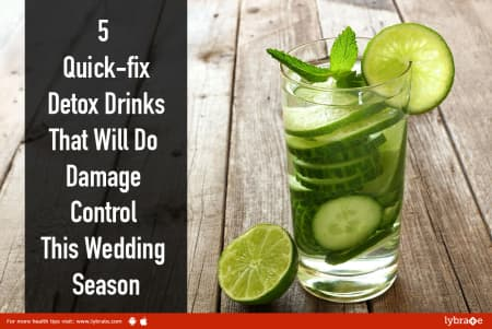5 Quick-fix Detox Drinks That Will Do Damage Control This Wedding