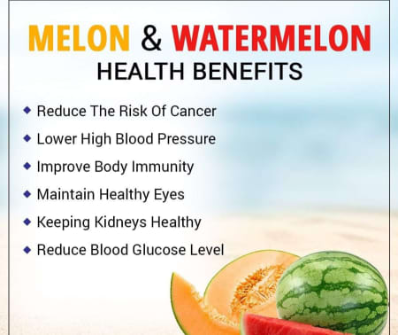 Health Benefits Of Consuming Melons & Watermelons! - By Dt