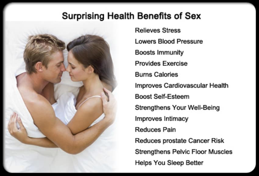 Health benefits of sexual intercourse
