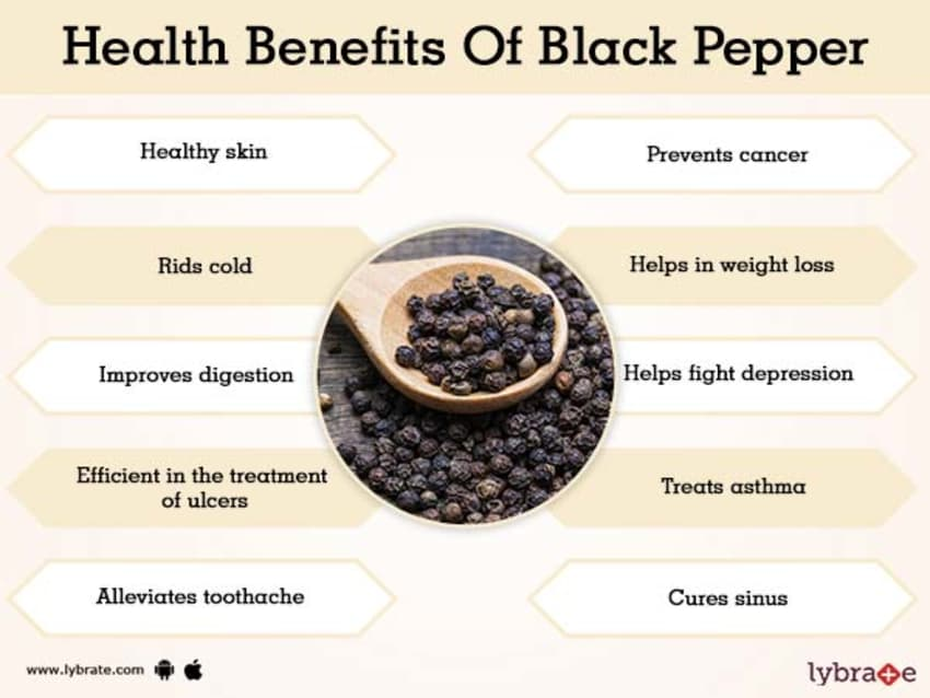 Benefits of Black Pepper And Its Side Effects | Lybrate