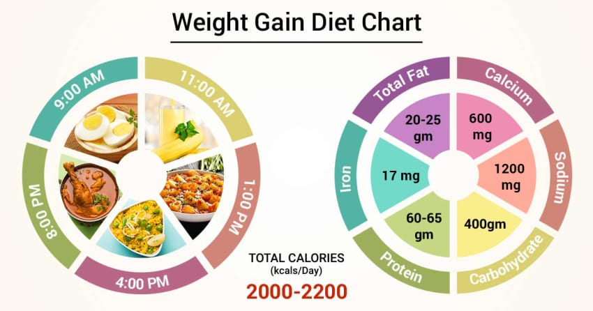 a perfect diet plan to gain weight