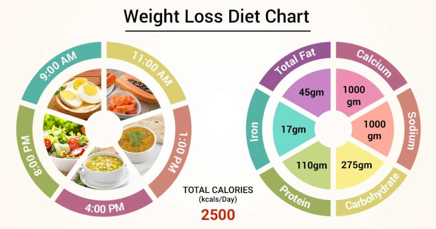 a diet chart to lose weight fast